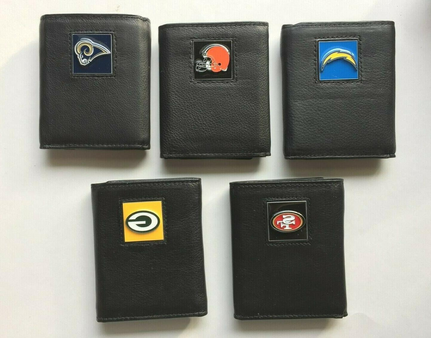 nfl tri fold leather wallets in gift