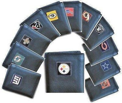 nfl tri fold leather wallets nice gift