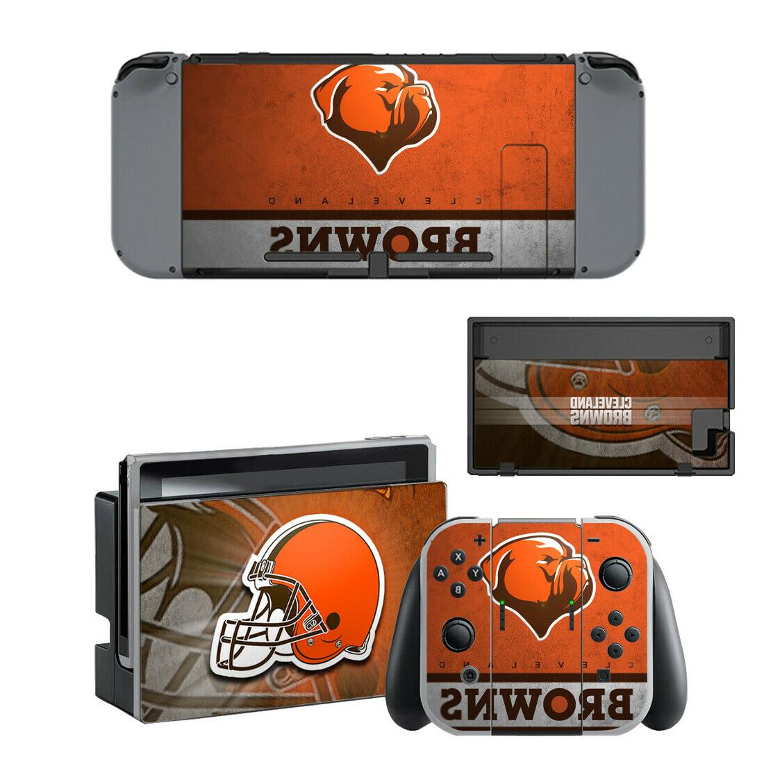 nintendo switch cleveland browns vinyl skin sticker