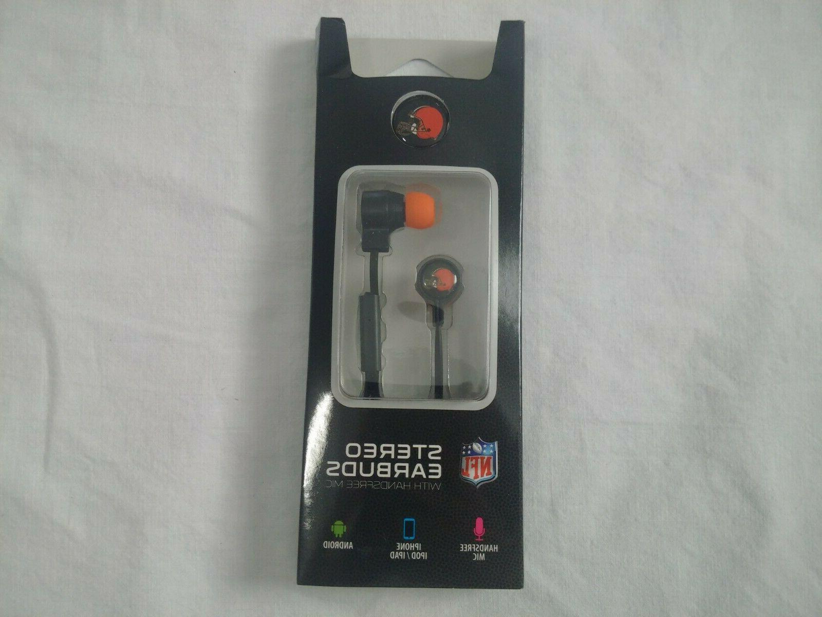 stereo earbuds with mic cleveland browns
