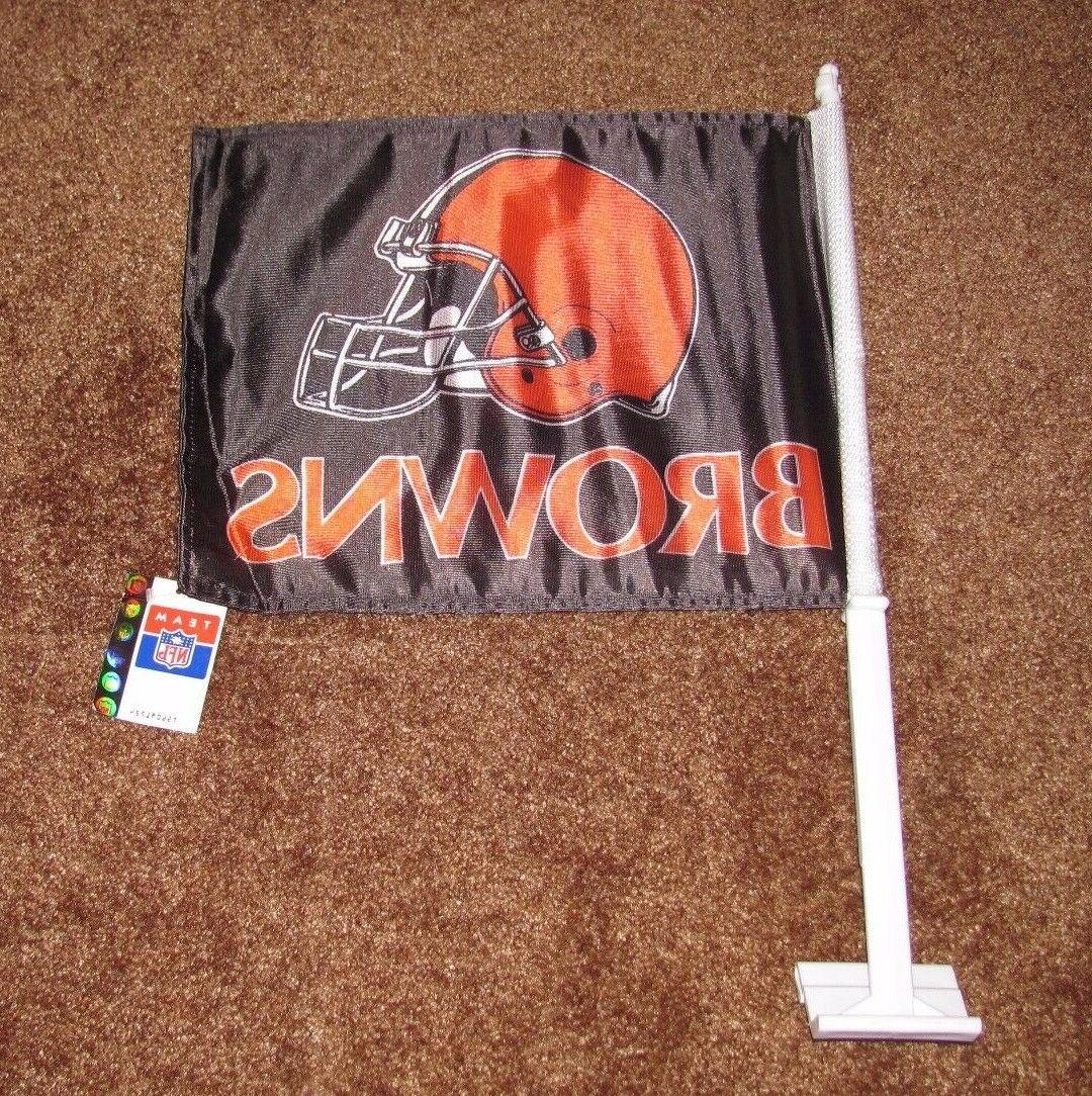 team nfl cleveland browns car tailgate flag