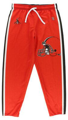 Klew Womens Cleveland Browns Jogger Pants Orange