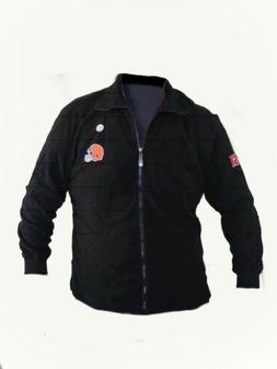 NEW Cleveland Browns Fleece Zip Up Jacket L/XL. FREE SHIPPIN