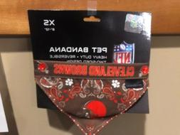 Little Earth NFL Cleveland Browns 2-Sided Pet Bandana Size X