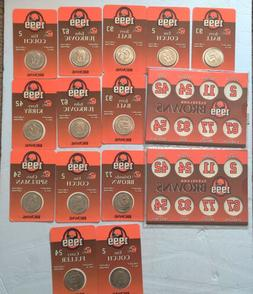 Lot Of 13 Unopened Cleveland Browns 1999 Coins  Coin Holders