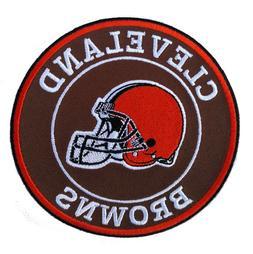 "🏈NEW! 4"" CLEVELAND BROWNS ""Helmet Logo"" Round Iron-on Foo"