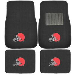 New 4pcs NFL Cleveland Browns Car Truck Front Rear Carpet Fl