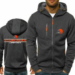 New Cleveland Browns Fans Hoodie Sporty Jacket Zipper Coat A