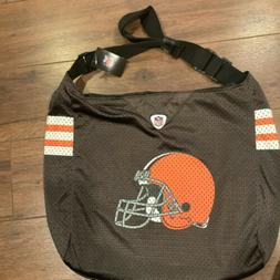 New CLEVELAND BROWNS Jersey PURSE NFL Bag With Straps Large