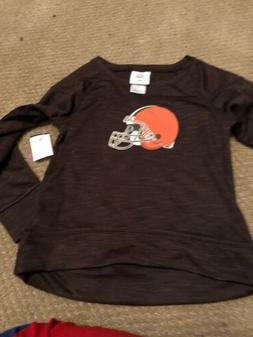 New Cleveland Browns Long Sleeve Sweatshirt - Girls Small 6