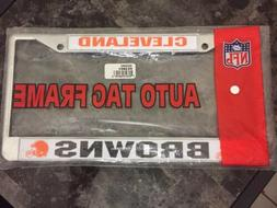 New Cleveland Browns Metal Car/truck Auto License Plate Fram