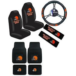 New NFL Cleveland Browns Car Truck Seat Covers Steering Whee