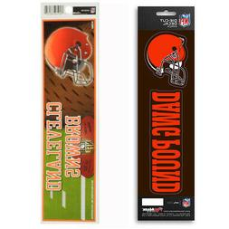 New NFL Cleveland Browns Die-Cut Vinyl Slogan Decal and Bump