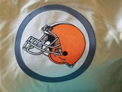 NEW POTTERY BARN KIDS NFL CLEVELAND BROWNS FULL QUEEN BEIGE