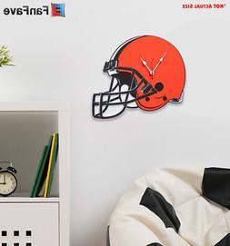 New NFL Cleveland Browns Home Decor EVA Foam 3D Wall Clock 1
