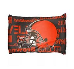 New NFL Pillowcase Set Cleveland Brown Football Team 20' x 3