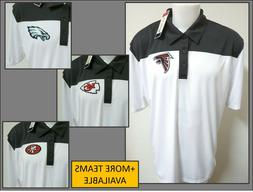 NEW S-5XL White/Gray Colorblock NFL MENS Polyester #42J Polo