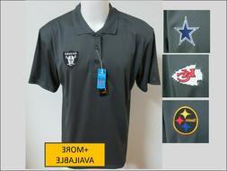 New Sz S-3XL Gray Nfl Mens Polyester #517 Golf Polo Shirt