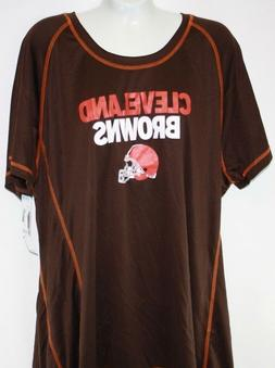 NEW Womens NFL Apparel Cleveland Browns Brown Orange Synthet