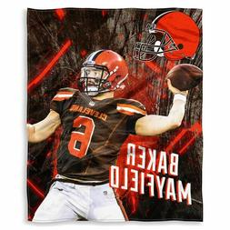 NFL Baker Mayfield Cleveland Browns Silk Touch Throw Blanket