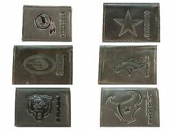 NFL Black Leather Wallets, Trifold Wallet All Teams Official