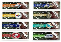 NFL  BUMPER STICKERS NEW COLORFUL GLOSSY DESIGNS, ASSORTED T