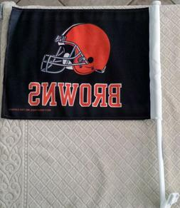 NFL CAR WINDOW FLAG - Cleveland Browns - Includes 2 Flags
