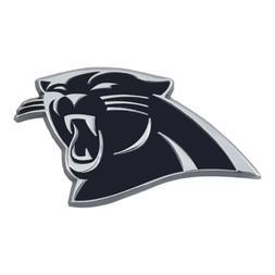 Fanmats NFL Carolina Panthers Diecast 3D Chrome Emblem Car T