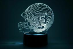 NFL Chiefs Saints Patriots Rams Eagles Night Light Lamp Coll