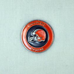 NFL Cleveland Browns 2 Sided Ball Marker - Free Shipping - 3