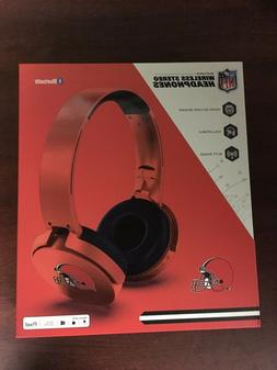 nfl cleveland browns bluetooth wireless stereo headphones