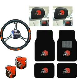 NFL Cleveland Browns Car Truck Floor Mats Steering Wheel Cov