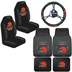 NFL Cleveland Browns Car Truck Seat Covers Floor Mats & Stee