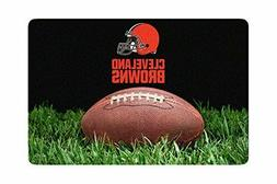NFL Cleveland Browns Classic Football Pet Bowl Large Mat, On