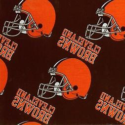 NFL CLEVELAND BROWNS COTTON FABRIC MATERIAL, Fabric Sold By