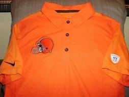 NFL Cleveland Browns NIKE Dri Fit Team Issue Orange Polo Gol