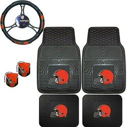 NFL Cleveland Browns Floor Mats Steering Wheel Cover & Air F