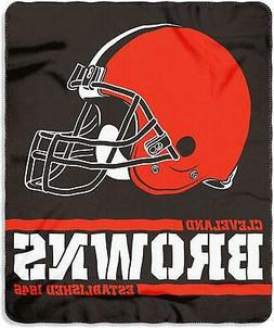 New NFL Cleveland Browns Helmet Logo Soft Fleece Throw Blank