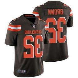 NIKE NFL CLEVELAND BROWNS JIM BROWN THROWBACK MENS JERSEY SI
