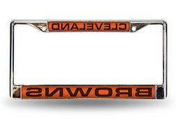 NFL Cleveland Browns Laser Cut Chrome License Plate Frame