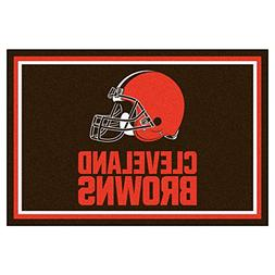 FANMATS NFL Cleveland Browns Nylon Face 5X8 Plush Rug