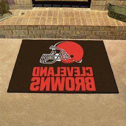 FANMATS NFL Cleveland Browns Nylon Face Starter Rug