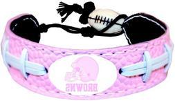 NFL Cleveland Browns Pink Football Bracelet