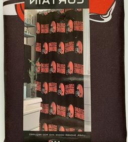 NFL Cleveland Browns Polyester Shower Curtain  72X72 Require