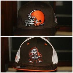 NFL Reebok Cleveland Browns Snapback 7 1/4 Hat Brown Orange