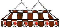 NFL Cleveland Browns Stained Glass Pool Table Light - NEW -