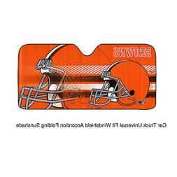NFL Cleveland Browns Universal Auto Shade, Large, Orange
