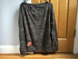 NFL Cleveland Browns Women's Warpspeed Charcoal Shirt Swea