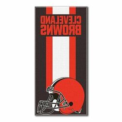 "NFL Cleveland Browns ""Zone Read"" Cotton Beach Towel 30"" x 60"