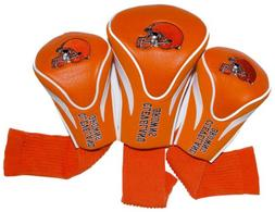 NFL Cleveland Browns 3 Pack Contour Head Covers